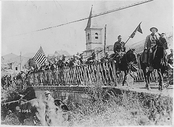 Battle of St. Mihiel-American Engineers returning from the front-From the National Archives