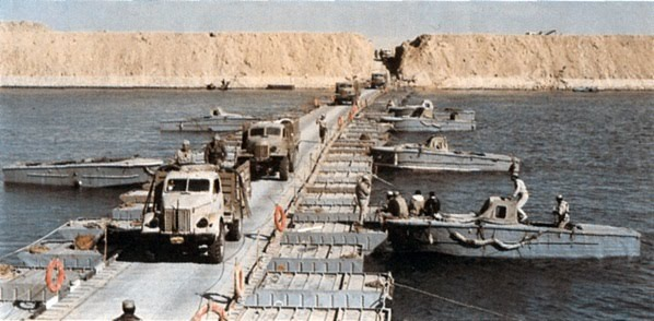 Egyptian Troops Crossing the Suez Canal- 1973 War