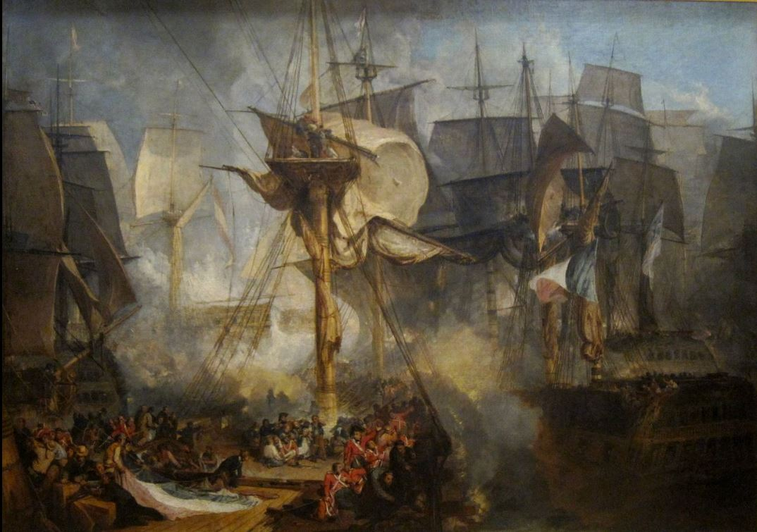 The Battle of Trafalgar (1805). Painting by J. M. W. Turner