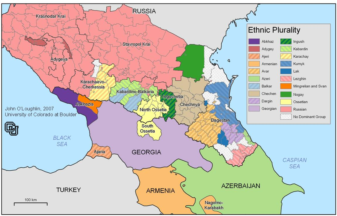 Map of Caucasus
