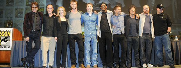 Avengers Movie Acting Cast from San Diego Comic-Con 2010