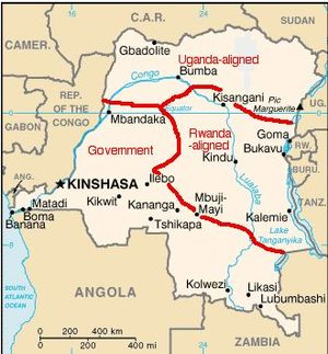 Congo War Map 2003