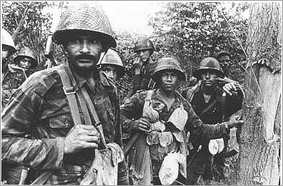 Cuban and Angolan Soldiers in the Angolan War