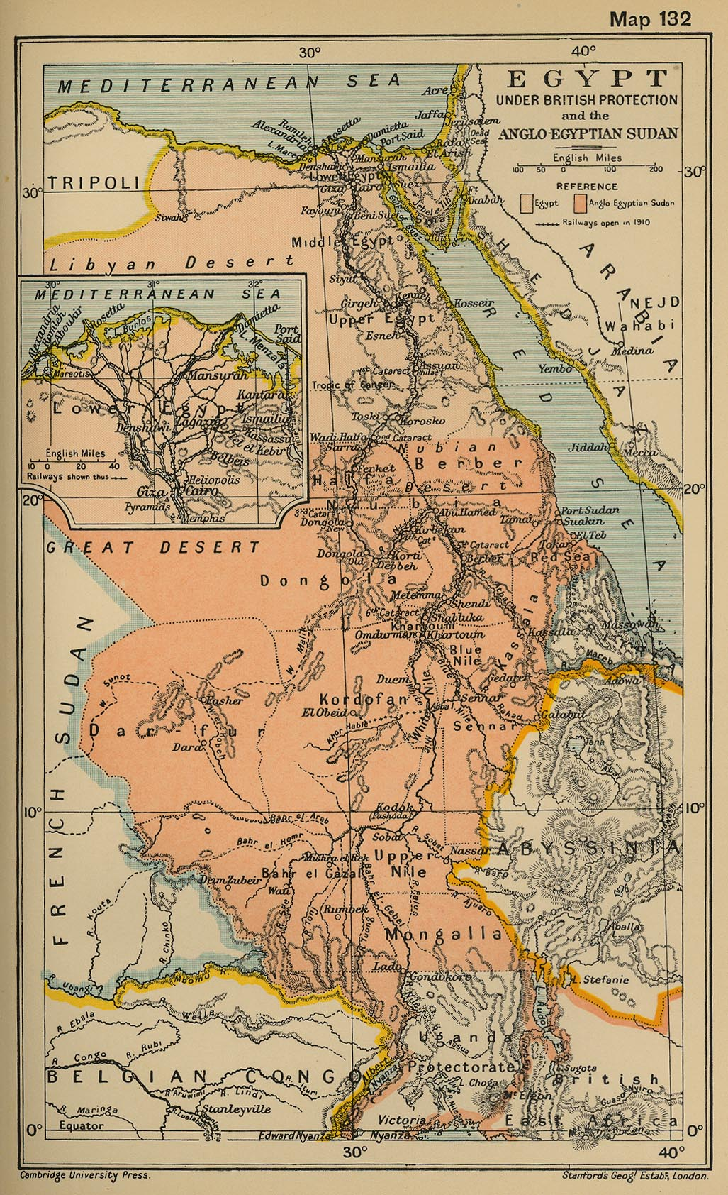 Historical Map of Egypt