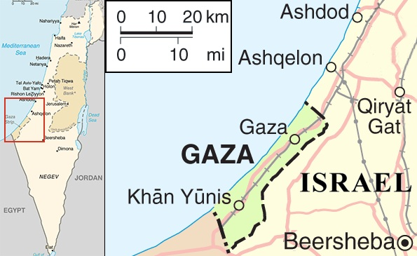 Gaza War Map