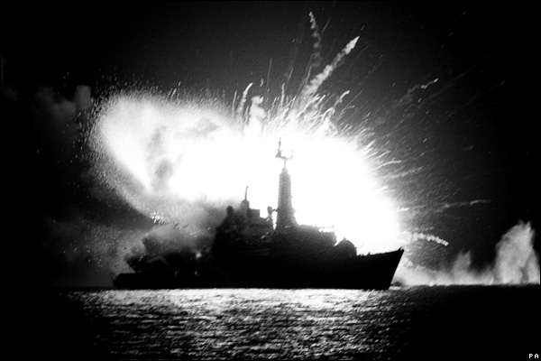 HMS Antelope Explosion in the Falklands War