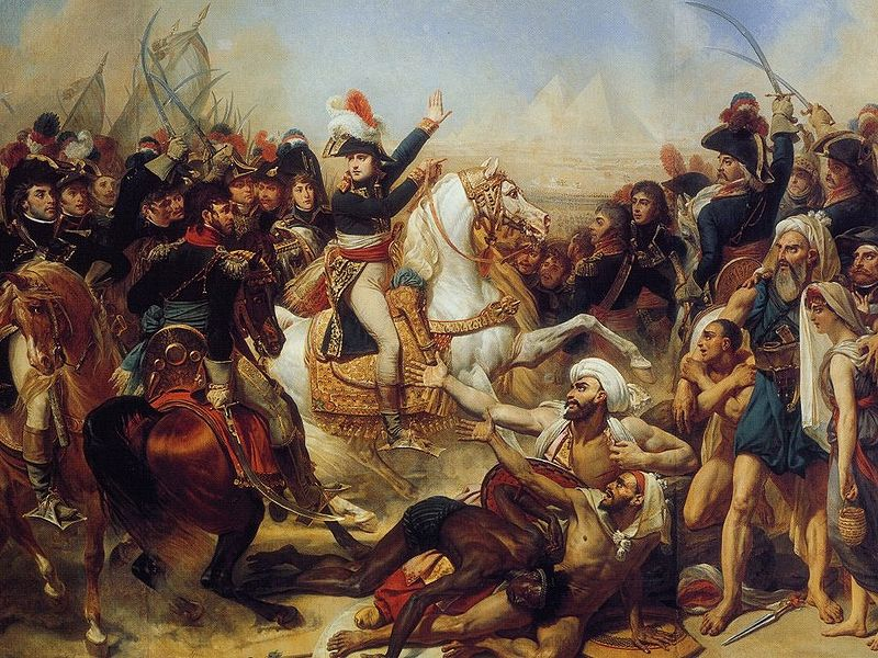 Napoleon at the Battle of the Pyramids