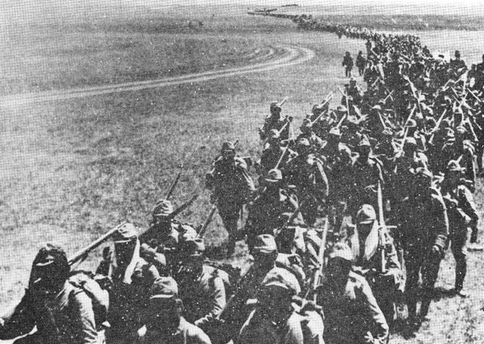 The 72d Infantry Regiment, 23d Infantry Division, approaching Nomonhan in early July.