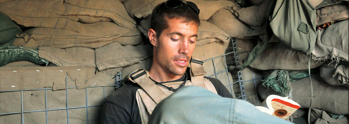 American Reporter James Foley  in Iraq Prior to  His Capture by the Islamic State