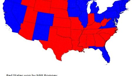 Electoral Map of 2012 Election