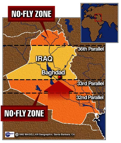 Iraq No-Fly Zone Map