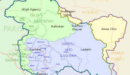 Kashmir Map-Courtesy of Washington Post