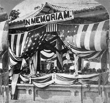 Photo of the first Decoration Day (Memorial Day), at Arlington National Cemetery, May 30, 1868