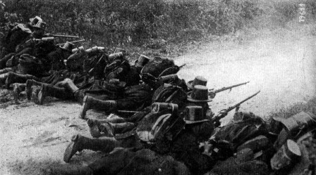 Belgian Troops Fighting the German Invasion of 1914
