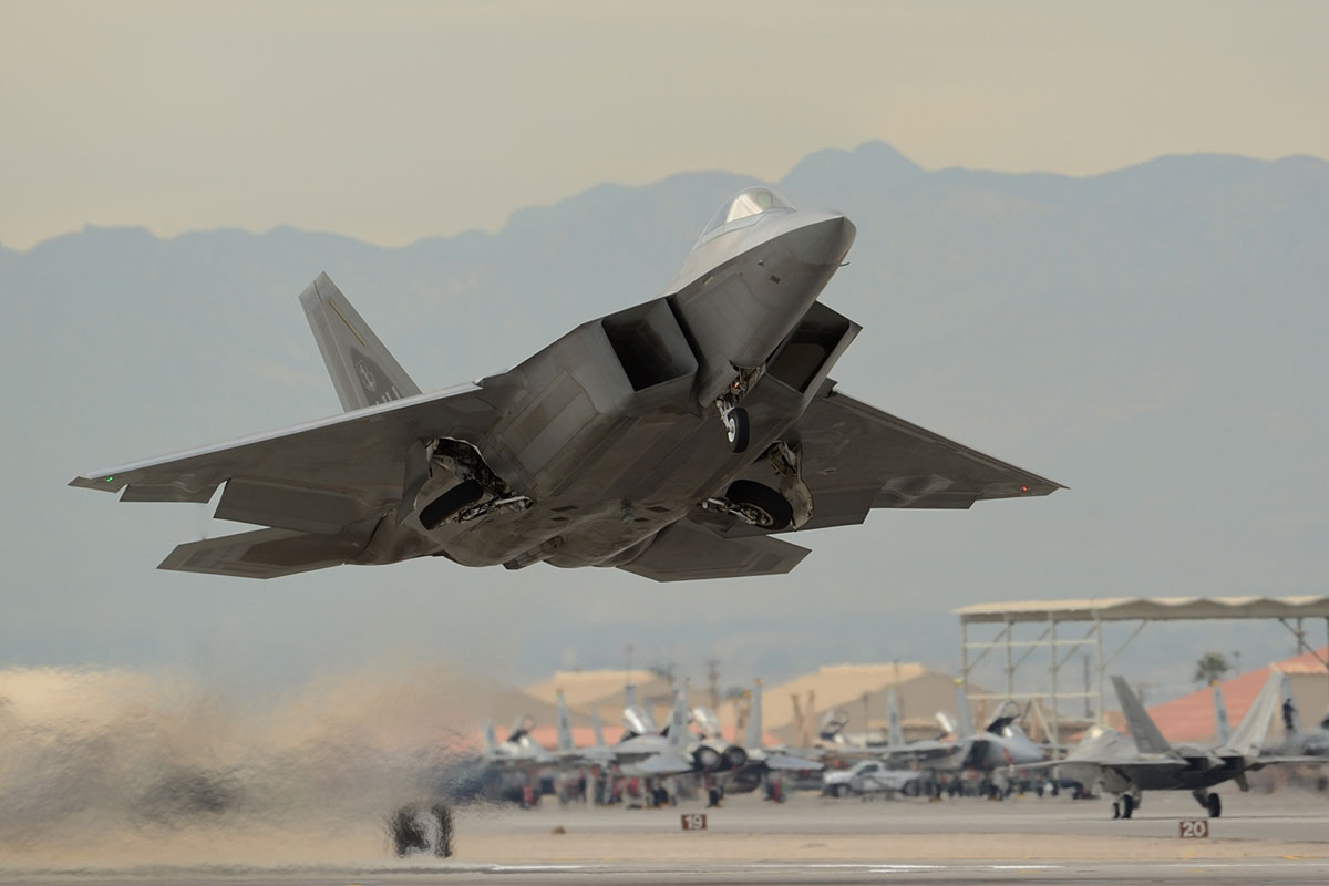 F-22 Raptor Aircraft Were Used in the Airstrikes Against ISIS in Syria.