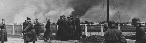 German Soldiers Watch Warsaw Burn in World War Two Poland