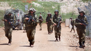 Israeli Troops Patrol the Golan Heights