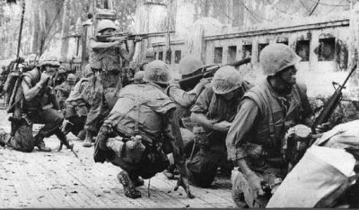 U.S. Marines in the Battle of Hue in the Vietnam War